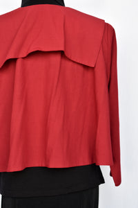 Clock House red cape jacket, size 12