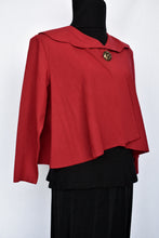 Load image into Gallery viewer, Clock House red cape jacket, size 12