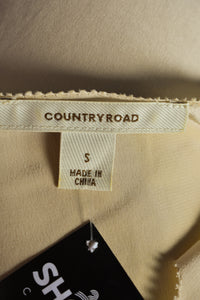 Country Road silk top, size S
