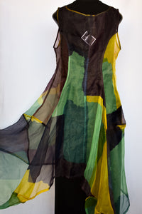 Sheer multicoloured dress, size S