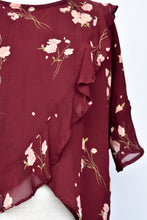 Load image into Gallery viewer, Liam silk maroon tee, size 14