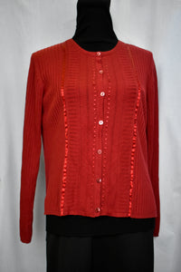 Cotton/Silk button up cradigan, size M