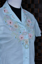 Load image into Gallery viewer, Vintage hand embroidered shirt, size 36