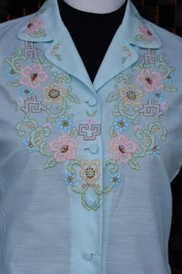 Vintage hand embroidered shirt, size 36
