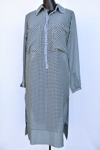 Ruby sheer button up dress, size 6