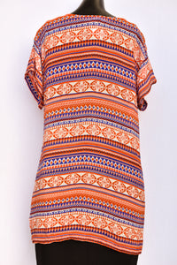 Citta geometric patterned tunic/long top, size S