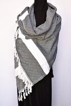Load image into Gallery viewer, Diamond patterned scarf/wrap/throw, one size