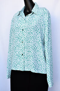 Austin Brown patterned shirt, size 14