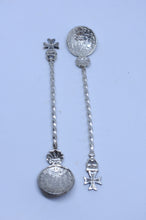 Load image into Gallery viewer, Pair of early 1900's Maltese Cross spoons