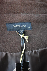 Overload wool coat, new, size 18