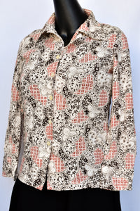 LookMe patterned button up shirt, size M