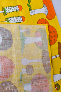 Funky mushroom placemats, 6 set