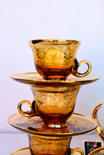 Load image into Gallery viewer, Gorgeous amber coloured coffee/tea 15 piece set - pick up only