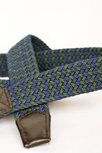 Load image into Gallery viewer, Navy and green cloth woven belt, 100cm