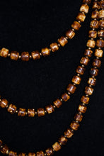 Load image into Gallery viewer, Brown glass beaded necklace