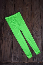 Load image into Gallery viewer, Bright green made in NZ tights, size M