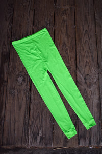 Bright green made in NZ tights, size M