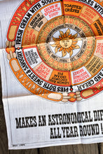 Load image into Gallery viewer, Fresh Cream astronomy retro tea towel