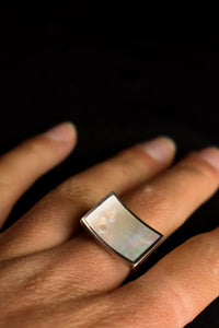925 silver and Mother of Pearl ring