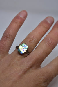 Oval Paua ring, size M