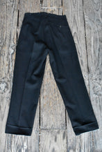 Load image into Gallery viewer, Men's black vintage trousers, size 38cm (waist)