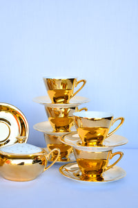 Westminster China gold 60's coffee set - pick up only