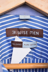 3 Wise Men striped shirt, size 40