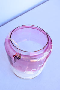 Swan Lake Cranberry glass cookie jar - pick up only