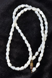 Simple white beaded necklace