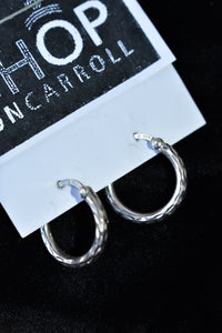 Thai 925 silver small hoops
