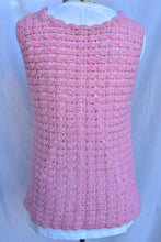 Load image into Gallery viewer, Pink crochet singlet, size S