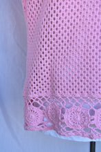 Load image into Gallery viewer, Pink crochet tee, size M