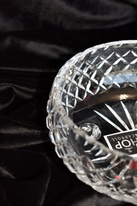 Medium round textured crystal bowl - pick up only