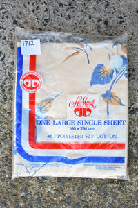 St Mark retro large single flat sheet