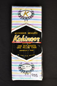 Retro Kohinoor colourful striped sheets
