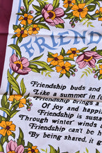 Load image into Gallery viewer, Friendship retro tea towel