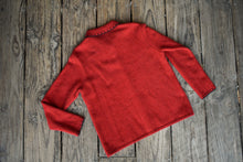 Load image into Gallery viewer, Merino Possum red cardy, size XL