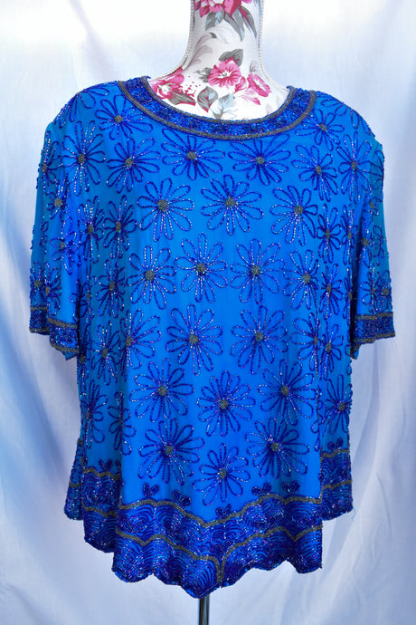 Retro beaded top, size 24