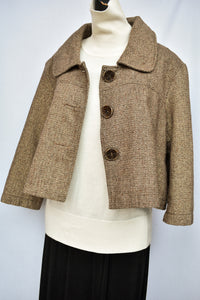 Anna Stretton cropped wool blend jacket, size L