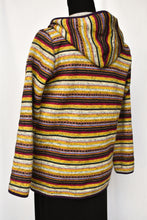 Load image into Gallery viewer, Multi coloured striped hoody, size M