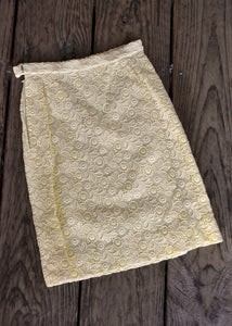 Retro 1960's lace skirt, size S