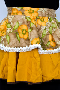 Mustard yellow retro apron