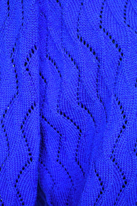 Cobalt blue wool cardy, size S