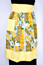 Load image into Gallery viewer, Vintage brown, yellow and blue pattern apron