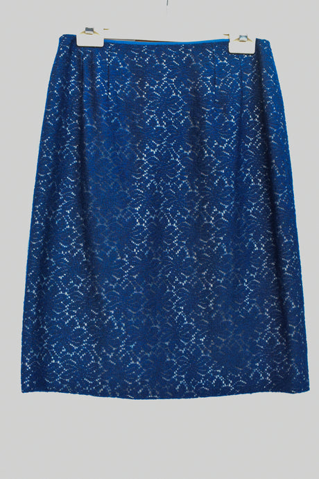 Navy crochet skirt, size S