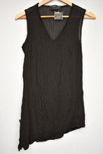 Load image into Gallery viewer, Megan Jane NZ sheer black singlet, size M