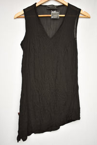 Megan Jane NZ sheer black singlet, size M