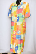 Load image into Gallery viewer, Newport long button down retro dress, size 14