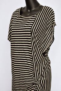 Company of Strangers striped linen long top, size 12