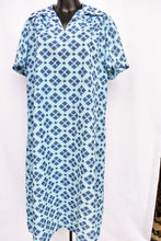 Load image into Gallery viewer, Retro blue dress, size L